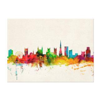 Bristol England Skyline Canvas Print