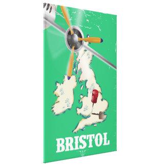 Bristol Vintage Travel poster Canvas Print
