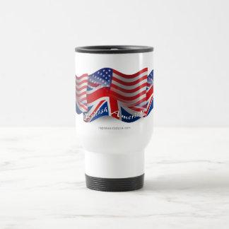 British-American Waving Flag Travel Mug