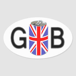British Beer Oval Sticker