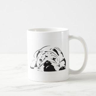 British Bulldog Stencil Coffee Mug