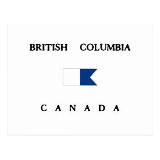 British Columbia Canada Alpha Dive Flag Postcard