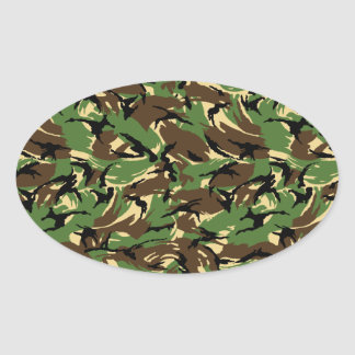 British DPM Camo Oval Sticker
