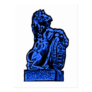 British Emblem Horse lv Blue The MUSEUM Zazzle Gif Postcard