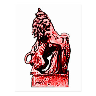 British Emblem Lion Red The MUSEUM Zazzle Gifts Postcards