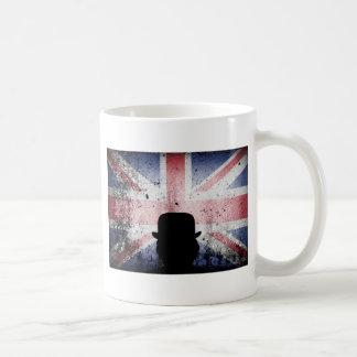 British flag on a grunge corrugated background. coffee mug