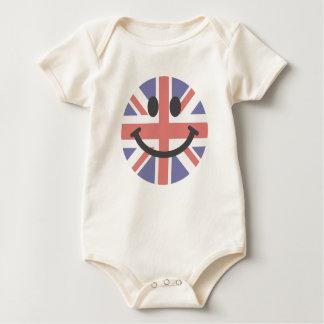 British Flag Smiley face Baby Bodysuit