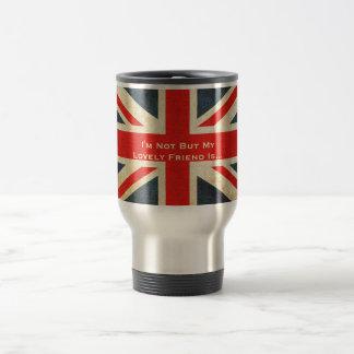 British Friend Grunge Union Jack Travel Mug