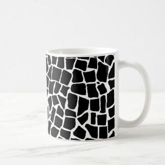 British Mosaic Black and White Coffee Mug
