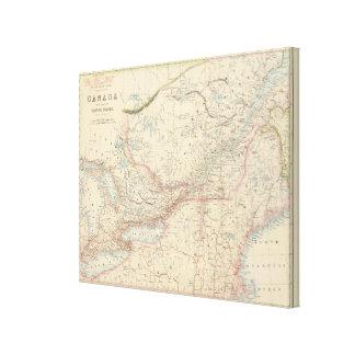 British North America 3 Stretched Canvas Print