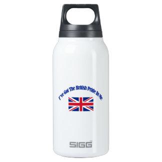 British patriotic flag designs insulated water bottle