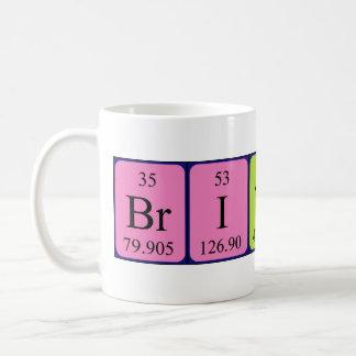 British periodic table patriotic mug