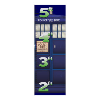 British Police Box Growth Chart. Poster