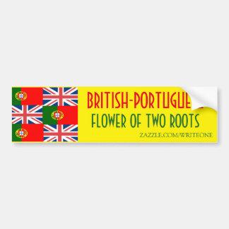 BRITISH-PORTUGUESE BUMPER STICKER