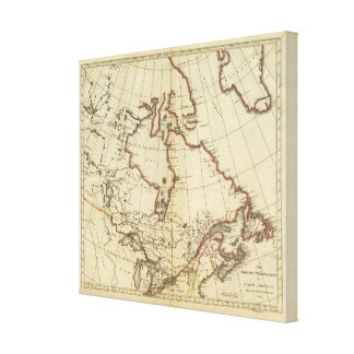 British Possessions in North America Canvas Prints