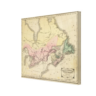 British Provinces of North America Stretched Canvas Prints