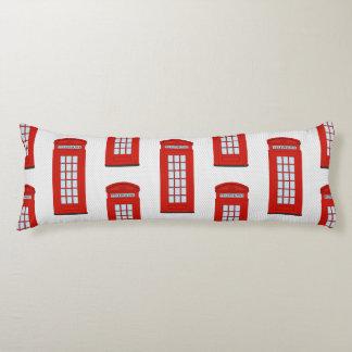 British Red Telephone Box Pattern Body Cushion