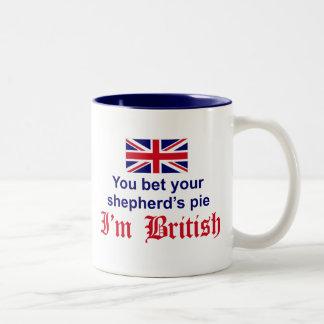 British Shepherd's Pie Two-Tone Coffee Mug