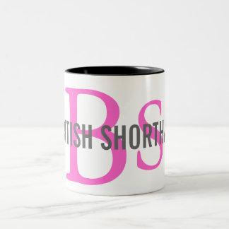 British Shorthair Monogram Two-Tone Coffee Mug
