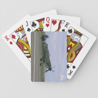 British Spitfire On Airfield_WWII Planes Playing Cards