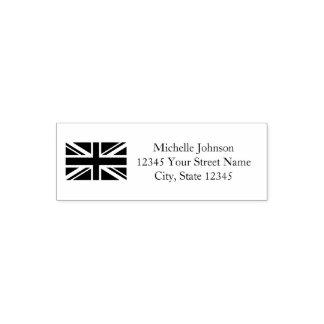 British Union Jack flag custom return address Self-inking Stamp