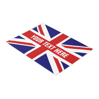 British Union Jack flag door mat for home or shop