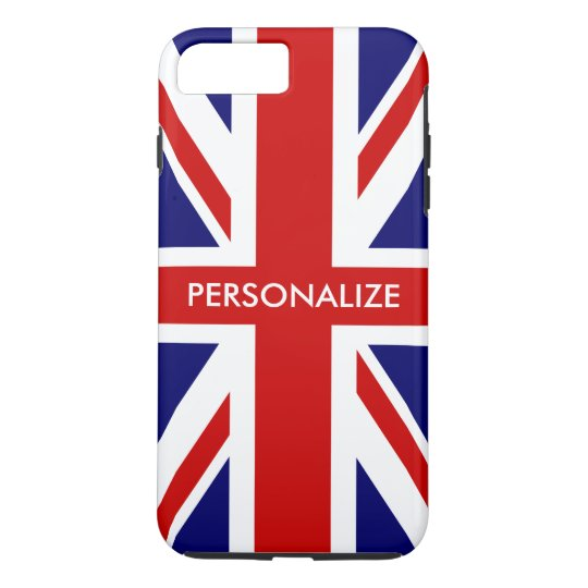 British Union Jack flag English pride personalised iPhone 7 Plus Case