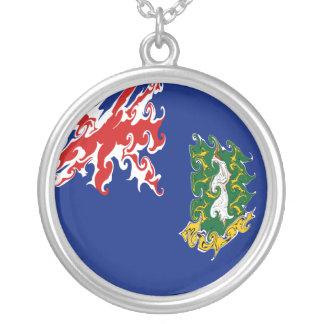 British Virgin Islands Flag Round Pendant Necklace