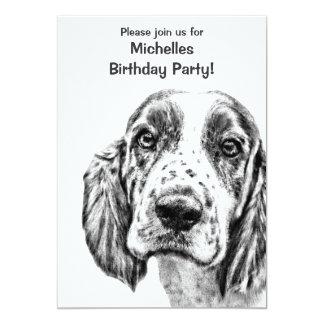 Brittany Spaniel Birthday invitation