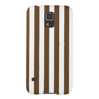 Broad Stripes - White and Dark Brown Galaxy S5 Cases
