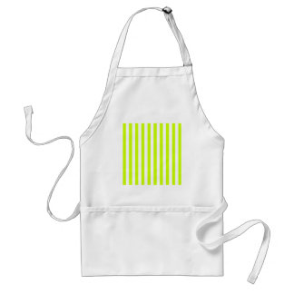 Broad Stripes - White and Fluorescent Yellow Aprons