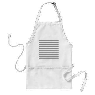 Broad Stripes - White and Gray Apron