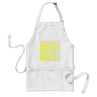 Broad Stripes - White and Yellow Aprons