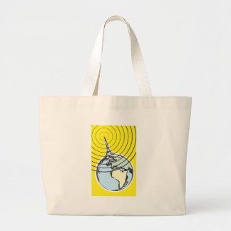 Broadcast Earth Large Tote Bag