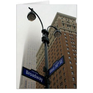 Broadway & 34th -New York City - Blank Inside Card