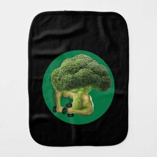 Broccoli Strong! Burp Cloth