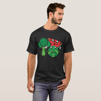 Broccoli, Watermelon and Brussels Sprout T-Shirt
