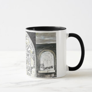 Broken But Not Shattered Black handled Mug