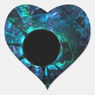 broken glass heart sticker