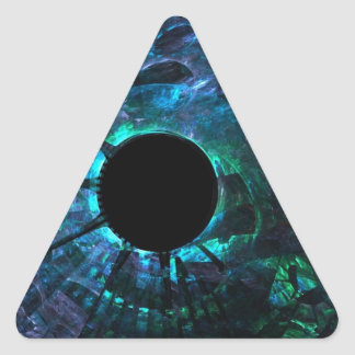 broken glass triangle sticker