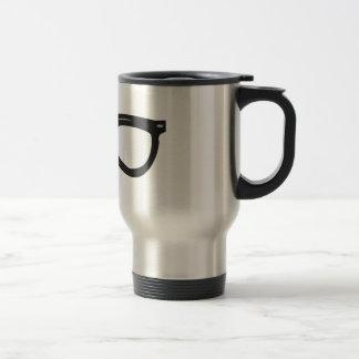 Broken Glasses Stainless Steel Travel Mug