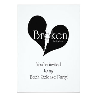 Broken Publications Book Release Invitation