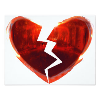 Broken Red Heart Card