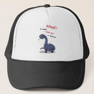 brontosaurus rawr means I love you Trucker Hat