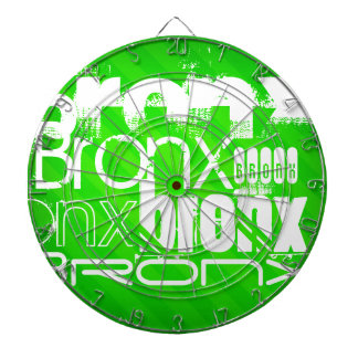 Bronx; Neon Green Stripes Dartboard