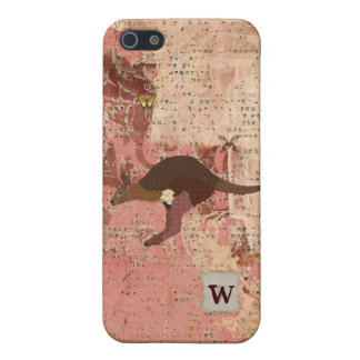 Bronze & Blush Wallaby, Butterflies iPhone Case Case For iPhone 5/5S