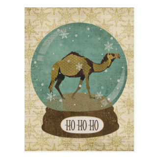 Bronze Camel Snowglobe Postcard