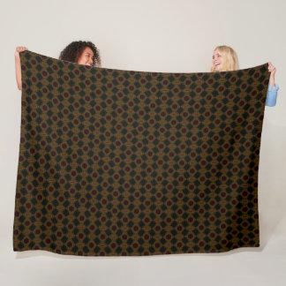Bronze Godzilla Skin Pattern Fleece Blanket