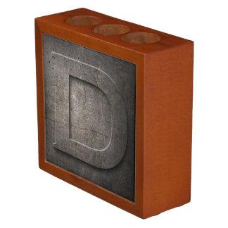 Bronze Metal Monogram D Desk Organiser
