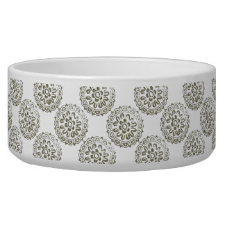 Bronze Motif Mandalas Round Design 1 + add Dog Bowls